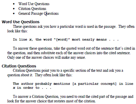 types of sat essay questions Evidence-based reading test the new sat reading test lasts 65 minutes and is comprised of 4 individual passages and 1 pair of passages this pair will be made up of two shorter, related passages by different authors that address a similar topic or theme each passage or pair will be between 500 and 750 words, for a total of 3250 words.